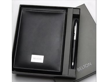 Luxury Memo box & Leather wrapped pen
