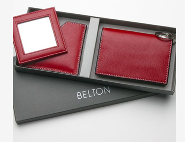 Set of Mirror case & a ID wallet with coin pocket